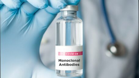 a vial of monoclonal antibody serium