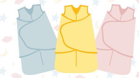 illustration of three sleep sacks