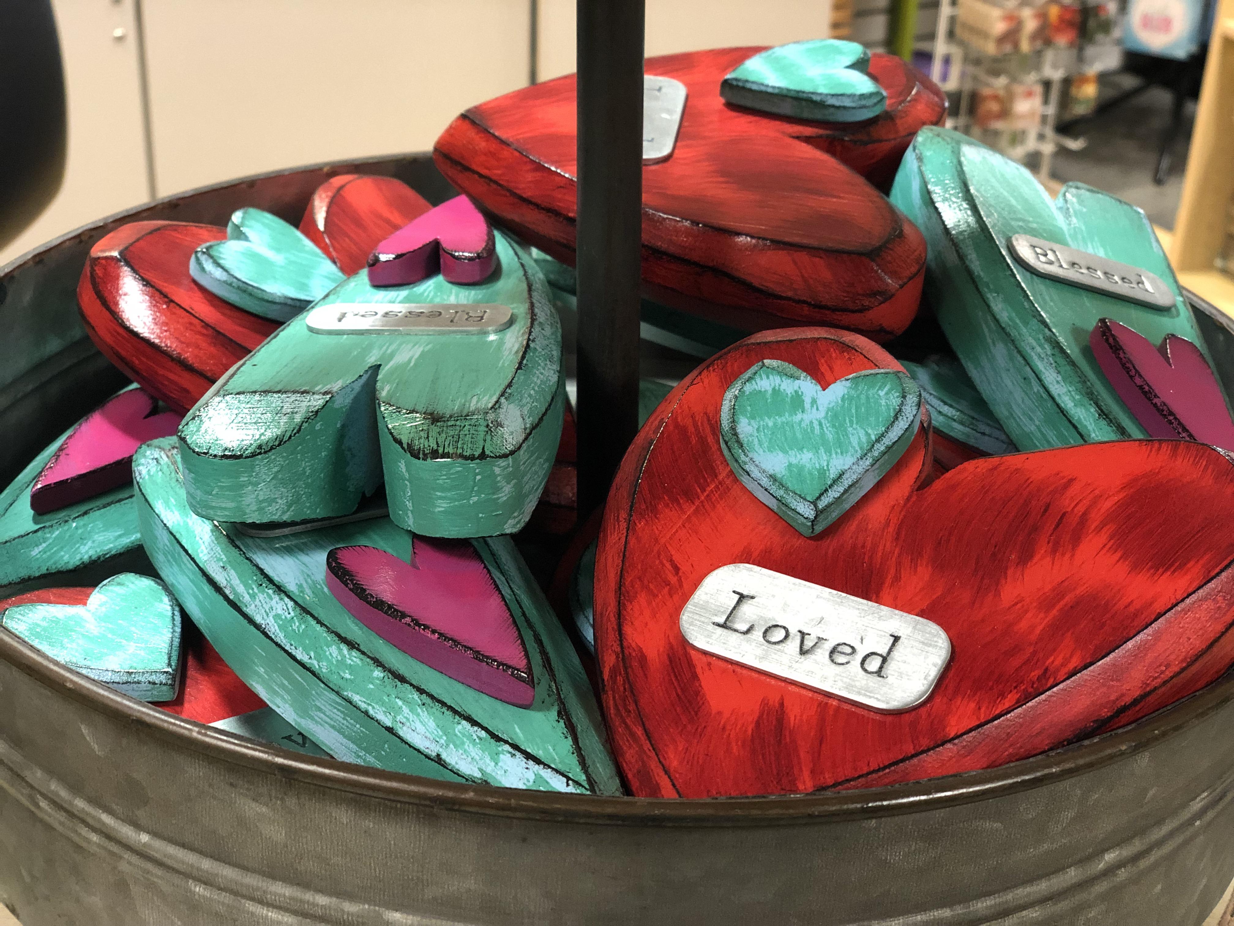 Hospital Gift Shop basket of valentines