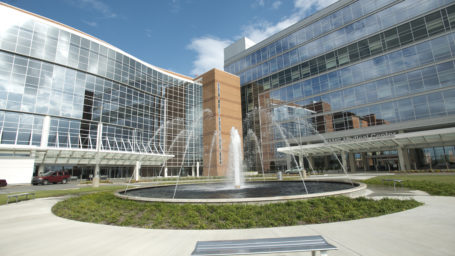 Fountain and Entrance of UAMS Medical Center