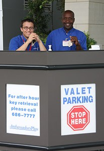 Valet parking at UAMS