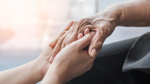 Palliative Care, holding hands
