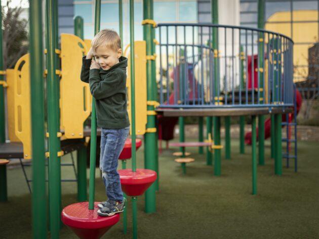Kids playing at ACH playground