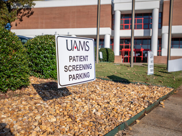Close up of patient parking sign
